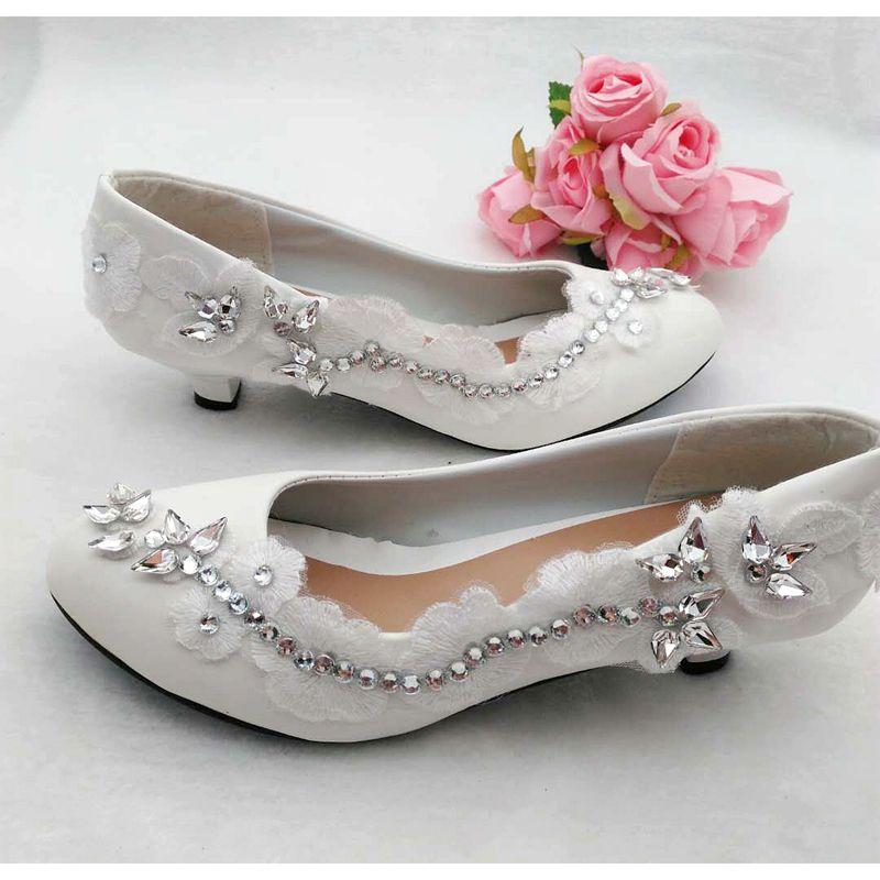 11cm 8 5cm Spitze Kleid 3cm Heel Hochzeit Flat Heel Handmade Silber Strass Heel 4 Brautschuhe Schuhe Heel Kristall Niedrigen Proms Luxus Benutzerdefinierte Süße Ferse Pumpe Heel Kleine Point Braut Cngp4qA