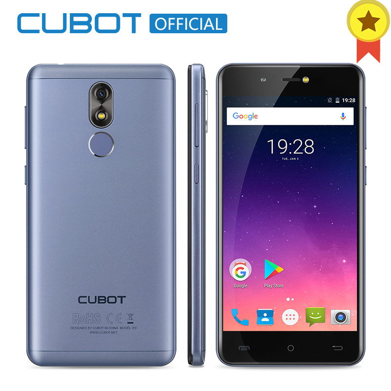 Cubot R9 MT6580 Quad Core Android 7.0 Fingerprint 2GB RAM 16GB ROM Smartphone 5.0 Inch 1280x720 HD Screen 13.0MP Camera Celular