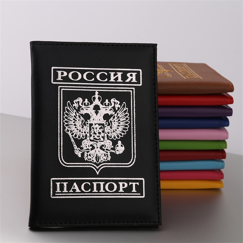 New Passport Holder Case For Russia Passport Cover ID Card Document Card Russia Travel Passport Holder Air Ticket Case