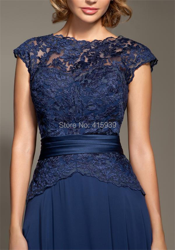 9f77c32556 Mark Lesley Dark Navy Blue Bridesmaid Dress Lace Chiffon Cheap Long Formal  Brides maid Dress Women Gown Free Shipping BD205-in Bridesmaid Dresses from  ...