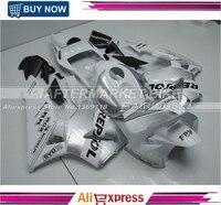 WHITE AND SILVER REPSOL Motorcycle Fairings For Honda CBR600RR 2003 2004 Full Set Kits