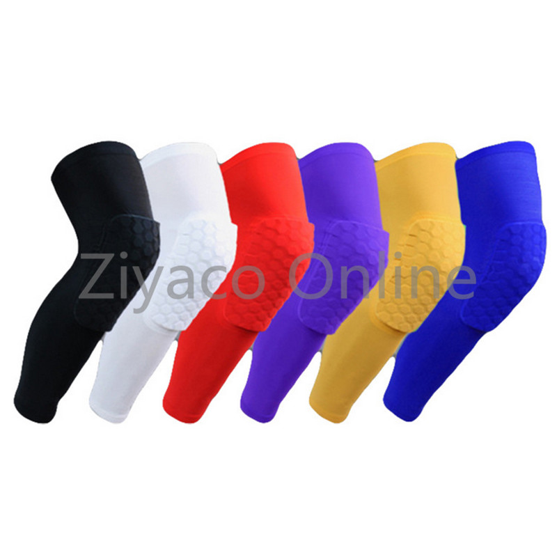 2017 Socks Honeycomb Gym Basketball Sports Knee Leg Support Brace Tape Guard Pads Brace Wrap Sleeve Protector Support Kneepad