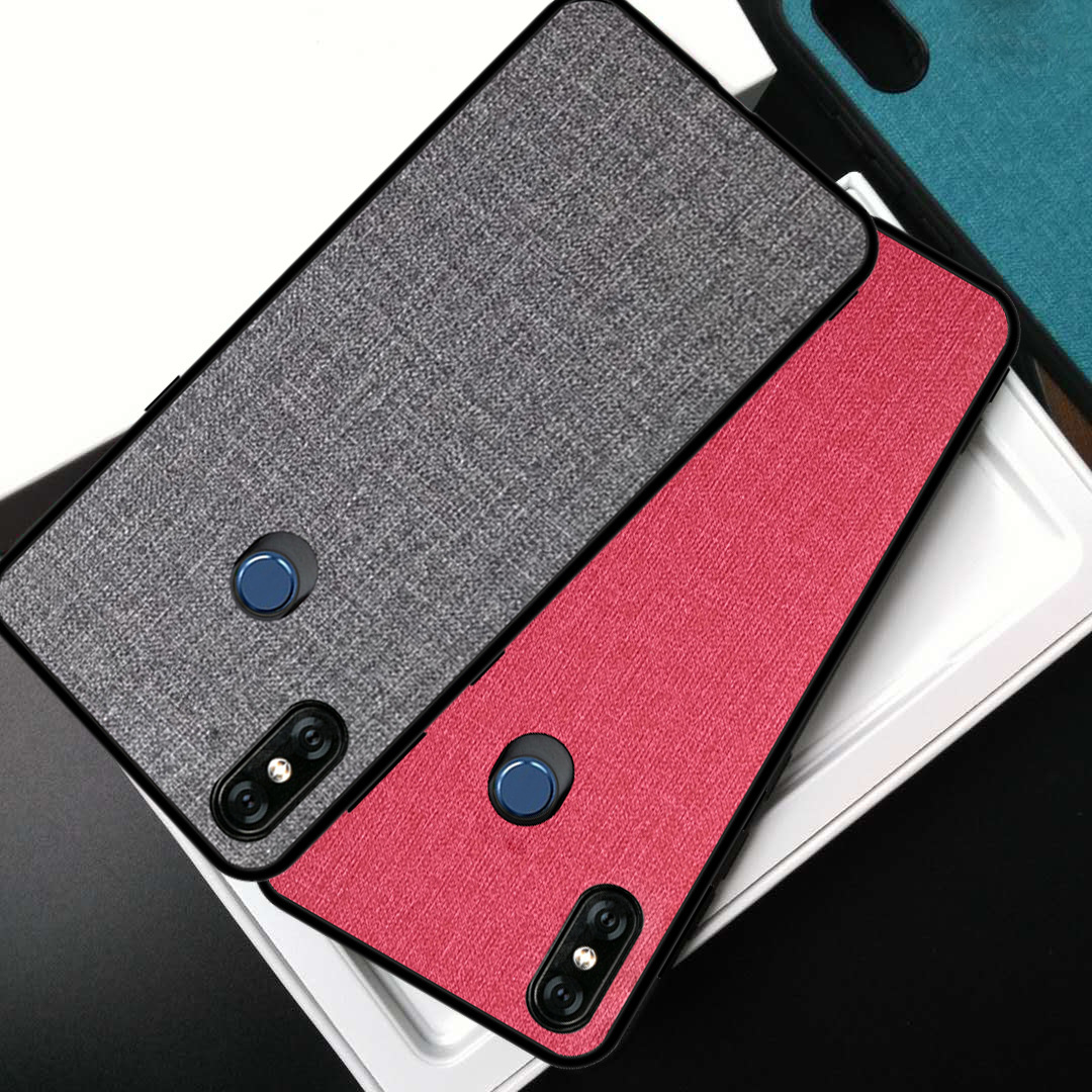 mi mix 3 case cover 2018 For Xiaomi Mi Mix 3 Back Fabric Case for mi mix 3 Soft TPU edge Full Cover frosted Business Case 6.39