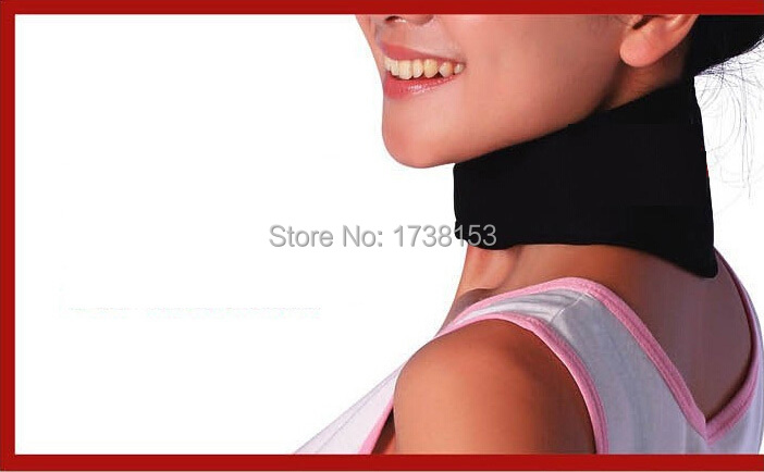 Hot Fashion Magnetic Therapy Neck Support Protection Spontaneous tourmaline Heating Headache Belt Neck Massager health magnet