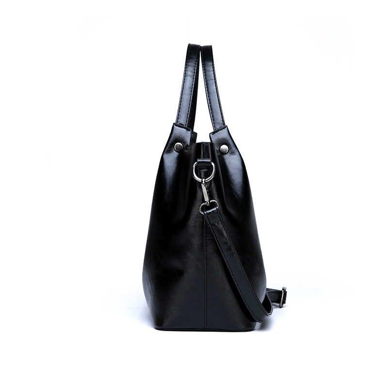 2020 夏新スタイルの女性のバッグハンドバッグトートオーバーショルダーバッグクロスボディ革ビッグブランドブラックデザイナー女性 Bolsas
