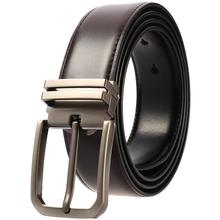 Men Pin Buckle Belts Fashion Black Brown Belt 2019 Hot Luxury Cowhide Leather Leisure Business Waist Straps for Male