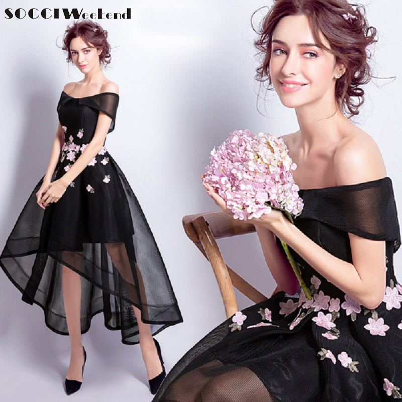 7e3845de024 Buy long dress black flowers sleeves and get free shipping on AliExpress.com