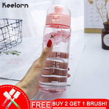Keelorn 650ML Fashion Simple Plastic Bottle Creative Portable Kettle Anti-Fall Candy Color Cute Gift For Girl