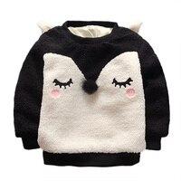 Jesień Lisa Bluzy Ciepłe Zimowe Dla Dzieci Chłopcy Dziewczęta Odzież dziecięca Bluza Z Długim Rękawem Bluzy z Kapturem Z Polaru Bluza