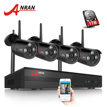 ANRAN Plug & Play 4CH Wireless NVR Kit P2P 720P HD Outdoor IP Video Security CCTV Camera Night Vision Wifi Surveillance System
