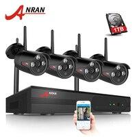ANRAN Plug & Play 4CH Wireless NVR Kit P2P 720P HD Outdoor IP Video Security CCTV Camera Night Vision Wifi Surveillance System