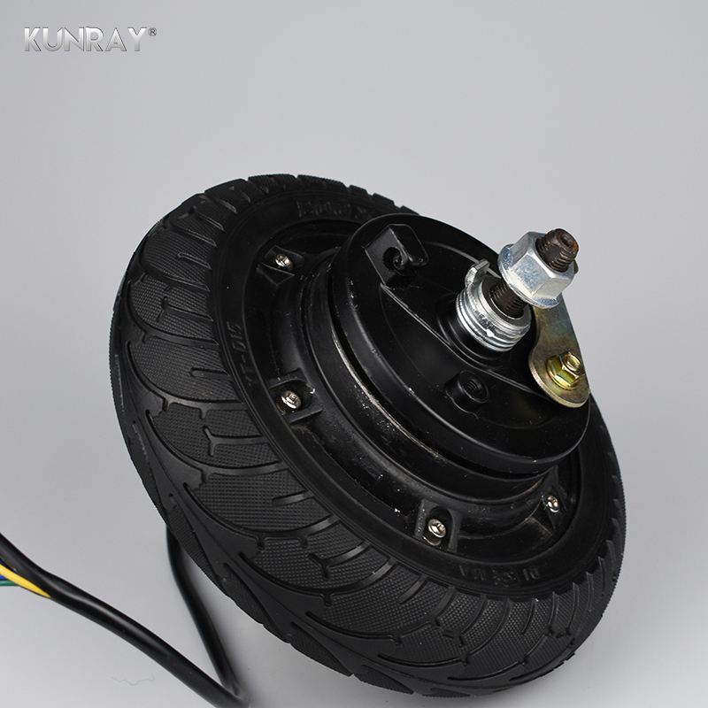 8 inch <font><b>350W</b></font> 24V 36V 48V <font><b>DC</b></font> <font><b>Brushless</b></font> Non-Gear Hub Wheel <font><b>Motor</b></font> For Electric Scooter E BikeConversion Kit 200*50 Airless Tire J04 image