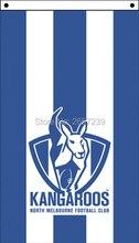 Kangaroos vertical Flag 3x5FT AFL banner 100D 150X90CM Polyester brass grommets custom66,free shipping