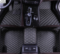 Upgrade leather car floor mats for Peugeot 3008 II 2017 2018 2019 Custom foot Pads automobile carpet