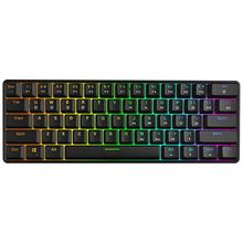 Механическая клавиатура, 61 Ключи оптический переключатель Мульти-Цвет RGB светодиодный подсветка Проводная игровая клавиатура, IP67 Водонепроницаемый, подставка под запястья, Erg