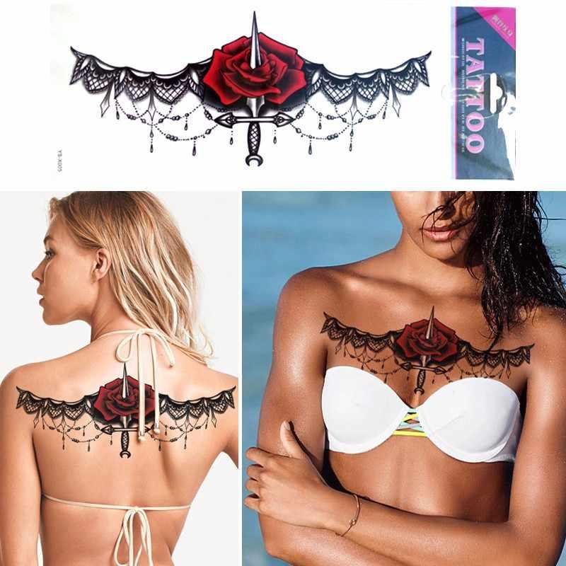 1PC 3D DIY Besar Dada Permata Dada Tato Stiker Lingkungan Fashion Seksi Tubuh Seni Stiker Yang Dapat Dilepas Tahan Air Sementara Tatto
