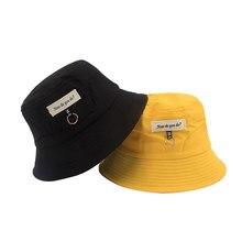 XCZJ Women Sun Hat Cotton Summer Bucket For Female Casual Chapeau Unisex Protection Visor Hats Beach H113