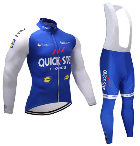 Summer Quick step Cycling team JERSEY Bike Pants set mens Ropa Ciclismo pro Bicycle clothing Long Cycling wear Maillot Culotte
