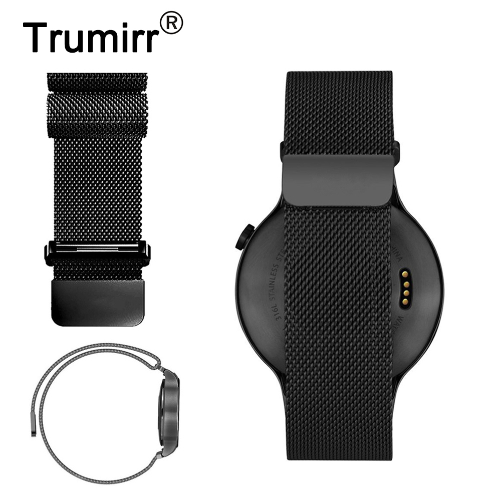 18mm Milanese Loop Band for Huawei Watch / Fit Honor S1 Asus ZenWatch 2 (1.45/45mm) 2015 Women Quick Release Strap Bracelet