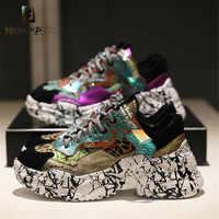 Prova Perfetto 2019 zapatillas de deporte de moda para mujer zapatos gruesos para papá zapatos de plataforma nuevos colores zapatillas de camuflaje a juego chaissures