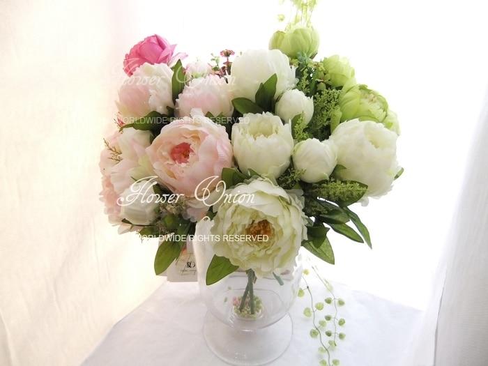 artificial peony ramo de flores para centro de mesa del banquete del banquete de boda de