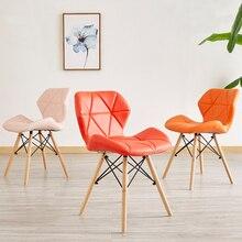 Mobiliário nórdico para sala de jantar, cadeiras modernas para sala de jantar, escritório, cozinha, sala de jantar