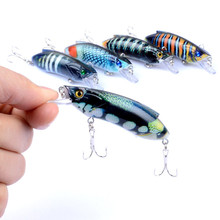 1Pcs 8cm/14.5g 3D Painting Minnow Sea Fishing Baits Lure Artificial Hard Isca With 6# Hook Wobblers For Ocean River Gear