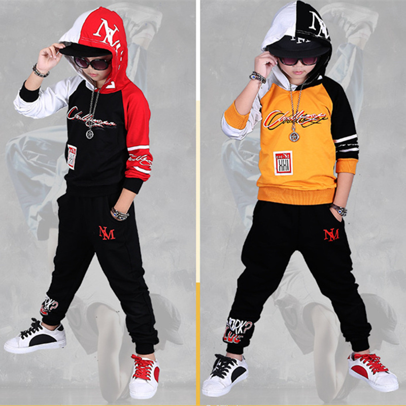 2018 Fall Hip Hop Costume Children's Clothing Set Outfit Boys Long Sleeve Sports Suit Kids Hoodies + Pants 2 Pcs Set Tracksuit children clothing set kids tracksuit sports suit boy girls fashion camouflage hoodies harem pants kids hip hop clothes