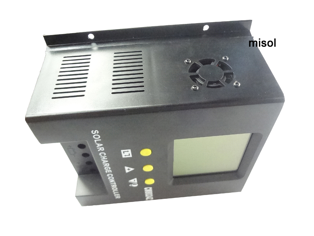 misol / solar regulator 80A 48V solar charge controller PWM, for solar panel battery charging 45a pwm solar panel controller solar charge controller regulator 12v 24v battery charging for 1kw solar system