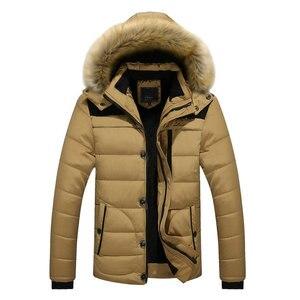 Image 4 - 2020 yeni varış sıcak kış ceket erkekler kapşonlu Casual Slim Parka erkek kış ceket