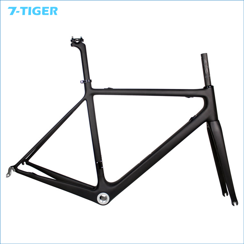 7-TIGER Carbon Road bicycle carbon frame+seat post+clamp+headset+fork carbon time trial frame for out door cycling 700c tt frameset wheels fork seat post seat post clamp kq tt03