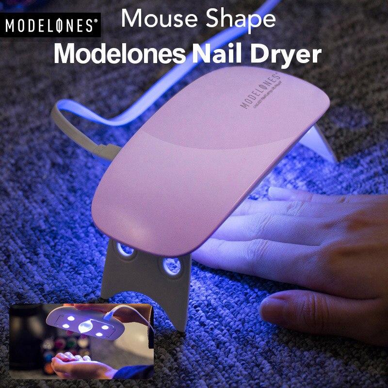 Modelones SUNmini 6 W UV lámpara LED de uñas secador de Cable USB portátil para el primer regalo hogar Gel de esmalte de uñas secador Mini USB de la lámpara
