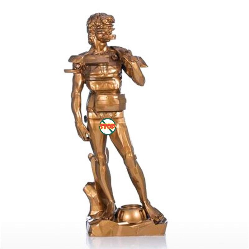 Astrazione Geometria Michelangelo David Statua di Stile Europeo Manufatti Per Larredamento di Casa G1014Astrazione Geometria Michelangelo David Statua di Stile Europeo Manufatti Per Larredamento di Casa G1014