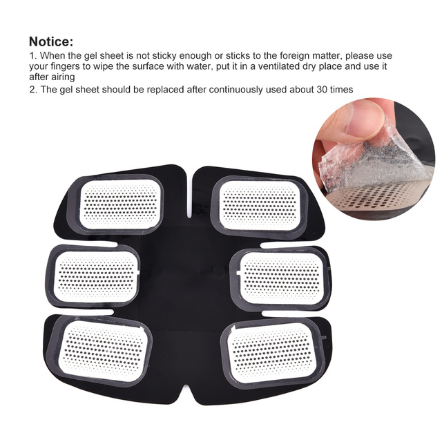 10 Pairs EMS Trainer Gel Pad Replacement Muscle Stimulator Gel Sheet Fitness Weight Loss Dedicated Gel Pads For ABS Stimulator  4