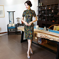 Fashion 2018 Modern Cheongsam Short Qipao Women Chinese Traditional Dress Oriental Style Dresses China Clothing Store