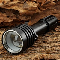 ARCHON D10U 3 Mode White Diving Flashlight Underwater Torch Waterproof white Light with XM L U2 LED Black (1 x 18650 Not inc)