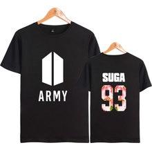 Popular Boy Band BTS ARMY All Members Name Fans Club Kpop Summer Autumn Cotton Women/Men Short Sleeve T-shirt Plus Size 4XL