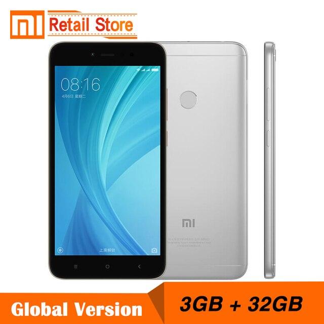 Глобальная версия Xiaomi Redmi Note 5A Prime 3 ГБ оперативной памяти 32 ГБ ROM телефона Note5A Snapdragon Octa Core 5.5 дюймов 16.0MP фронтальная камера