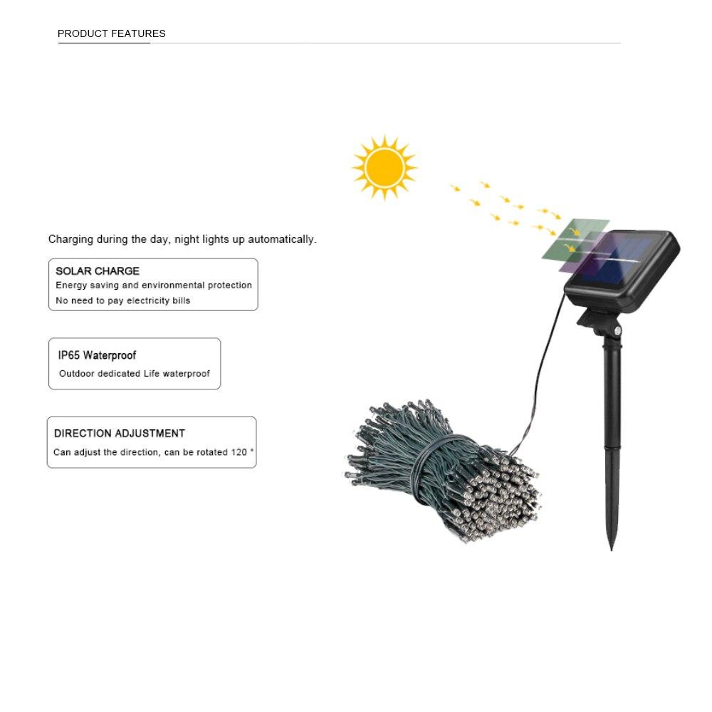 100 LED Solar String Light Outdoor Waterproof Fairy Solar Lights For Garden Decoration Christmas Solar Powered Lamp Strip 200LED (6)