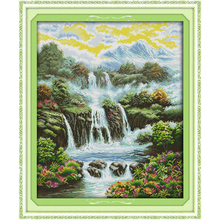 Everlasting love Heaven on earth Chinese cross stitch kits Ecological cotton printed 11 14CT DIY New  Christmas decorations gift