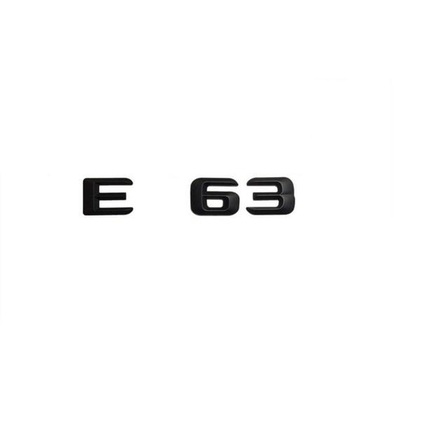 Matt black e 63 car trunk rear letters word badge emblem letter decal sticker