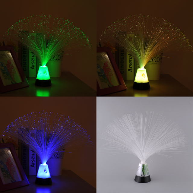 Romantic Color Changing Multicolor Fiber Optic Night Light Bar Hotel Decor Decoration Lamp Children's Toy Perfect Gift Luminaria