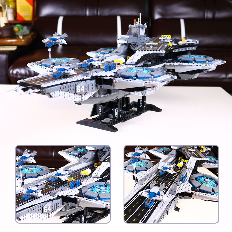 IN STOCK 3057Pcs LEPIN 07043 SY911 Super Heroes The SHIELD Helicarrier Model Building Kits Blocks Bricks Toys Compatible 76042 3057pcs 07043 the shield helicarrier set captain america winter soldier building blocks bricks compatible with lego