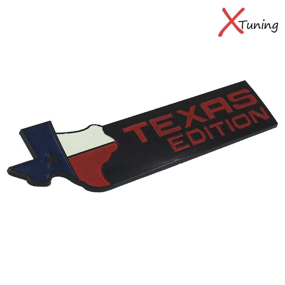 1pc black chromium finish 3d texas edition chrome badge emblems for ford car styling