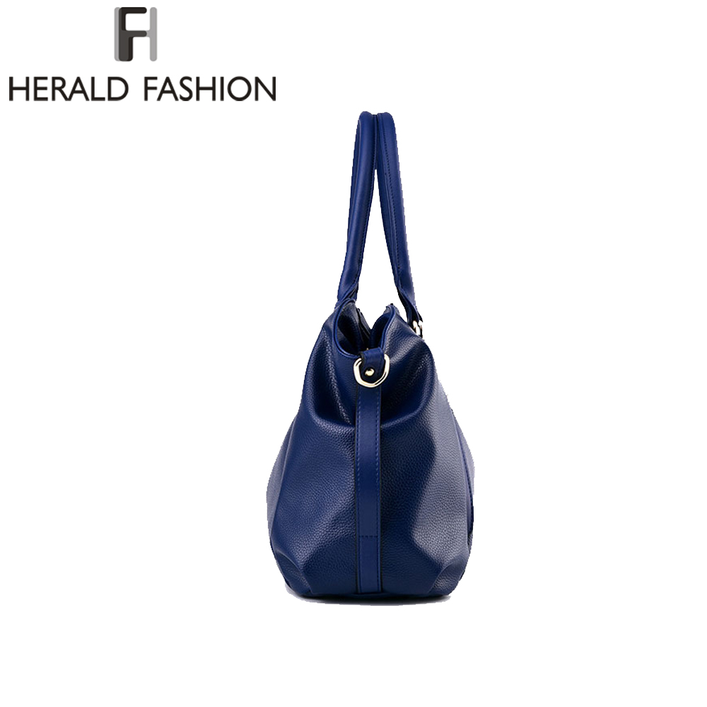 Herald Fashion Designer Women Handbag Female PU Leather Bags Handbags Ladies Portable Shoulder Bag Office Ladies Hobos Bag Totes 3