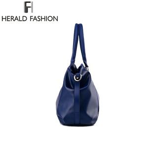 Image 4 - Herald Fashion Designer Women Handbag Female PU Leather Bags Handbags Ladies Portable Shoulder Bag Office Ladies Hobos Bag Totes