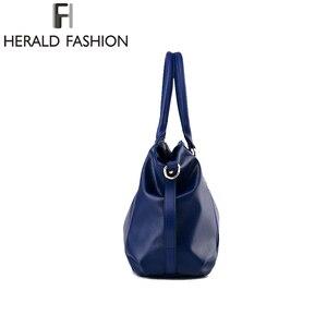 Image 4 - ヘラルドファッションデザイナーの女性のハンドバッグ女性のpuレザーバッグハンドバッグレディースポータブルショルダーバッグオフィス女性ホーボーバッグトートバッグ