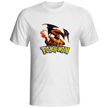 Evolution Of Charizard T Shirt Game Anime Punk Cool Fashion Print T-shirt Summer Casual Style Hip Hop Skate Rock Unisex Tee
