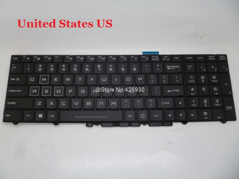 Laptop Keyboard For CLEVO P750DM-G P751ZM P770DM-G P775DM1-G P870DM-G United States US Germany GR Belgium BE laptop keyboard for clevo n550rc n550rn n551rc fn