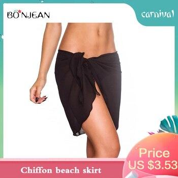 European And American Chiffon Beach Skirt Mini Summer 2019 New Fashion Streetwear Clothes Thin Breathable White Black Sexy Skirt